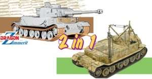 Panzerkampfwagen VI (P) / Bergepanzer Tiger (P) model Dragon 2in1