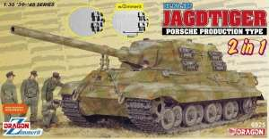 Sd.Kfz.186 Jagdtiger Porsche Production Type 2in1 in scale 1-35
