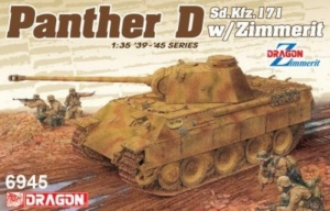 Panther D Sd.Kfz. 171 with Zimmerit 2in1 model Dragon 6945