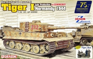 Tank Tiger I Late Production with Zimmerit Normandy 1944