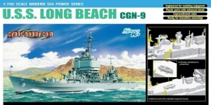 U.S.S. Long Beach CGN-9 model Dragon 7091 in 1-700