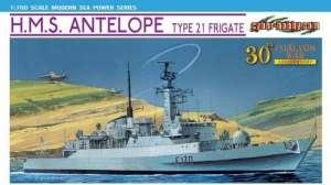 H.M.S. Antelope Type 21 Frigate model Dragon 7122 in 1-700