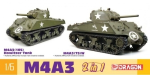 M4A3 105mm Howitzer Tank / M4A3(75)W 2in1 model Dragon 75055