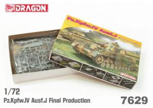 Pz.Kpfw. IV Ausf.J Final Prod. model Dragon 7629 in 1-72