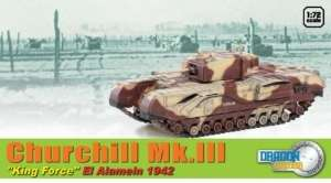 Churchill Mk.III Alamein 1942 - ready model in scale 1-72