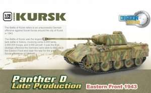 Panther Ausf.D Late Production Kursk 1943 ready model Dragon in 1-72