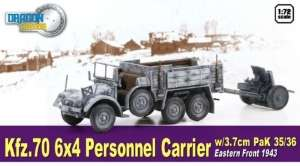 Kfz.70 6x4 Personnel Carrier w/3.7cm PaK 35/36 ready model in 1-72