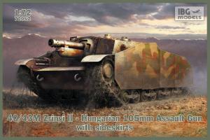 Model IBG 72052 43M Zrinyi II Hungarian Assault Gun with sideskirts