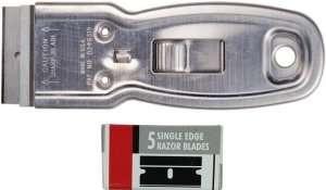 Metal Safety Scraper w/ 6 Blades