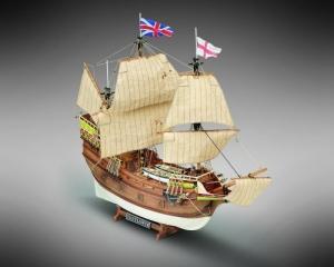 Galeon Mayflower Mamoli MV49 drewniany model okrętu w skali 1-70
