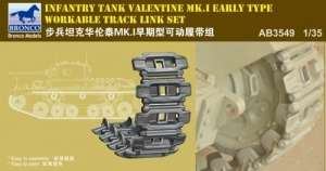 Bronco AB3549 Valentine Mk.I Early Workable Track Set in 1:35