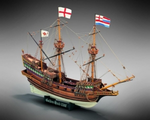 Golden Hind Mamoli MV30 drewniany model okrętu w skali 1-53