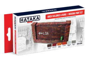 Brick Building and Ruins Diorama Paint Set Hataka AS45 6x17ml