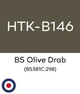 Hataka B146 BS Olive Drab - acrylic paint 10ml