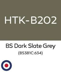 Hataka B202 BS Dark Slate Grey - acrylic paint 10ml