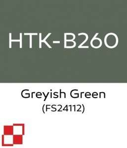 Hataka B260 Greyish Green - acrylic paint 10ml