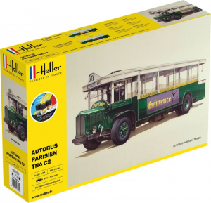 Heller 56789 Zestaw z farbami Autobus paryski TN6 C2