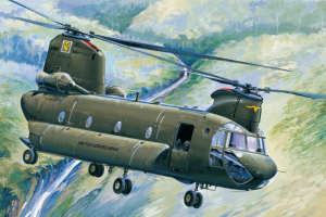 CH-47A Chinook model Hobby Boss 81772 in 1-48