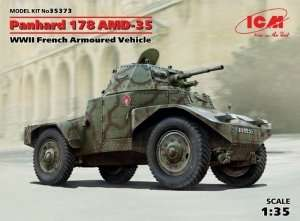 WWII French Armoured Vehicle  Panhard 178 AMD-35 in scale 1-35 ICM 35373