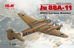 German Bomber Ju 88A-11 in scale 1-48 ICM 48235