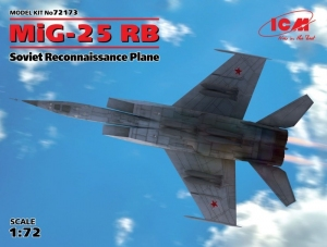 MiG-25 RB Soviet Reconnaissance Plane model ICM 72173