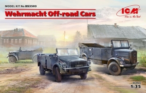 Wehrmacht Off-road Cars model ICM DS3503 in 1-35