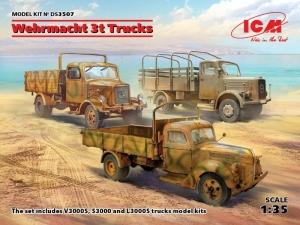 Wehrmacht 3t Trucks model ICM DS3507 in 1-35