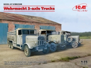 Wehrmacht 3-axle Trucks model ICM DS3508 in 1-35