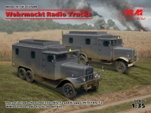 Wehrmacht Radio Trucks model ICM DS3509 in 1-35