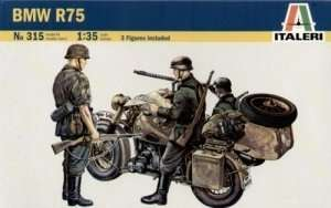 BMW R75 with Sidecar in scale 1-35