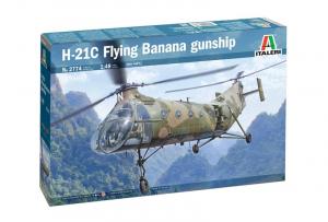 Italeri 2774 Śmigłowiec H-21C Flying Banana GunShip model 1-48