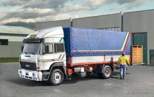 Iveco Turbostar 190-42 Canvas Whit Elevator in scale 1-24