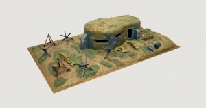 Bunker and Accessories model Italeri 6070 in 1-72