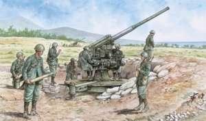 Italian gun 90/53 with crew in scale 1-72