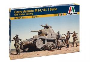 Carro Armato M14-41 I Serie with Italian Infantry model Italeri
