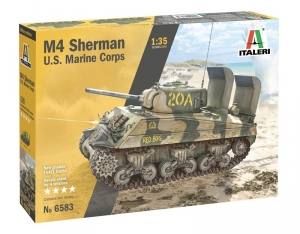M4 Sherman U.S. Marine Corps model Italeri 6583 in 1-35