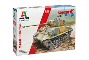 M4A3E8 Sherman Korean War model Italeri 6586 in 1-35