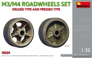 Model MiniArt 35220 M3/M4 Roadwheels set welded type and pressed type
