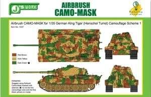 Maski do kamuflażu czołgu King Tiger skala 1-35