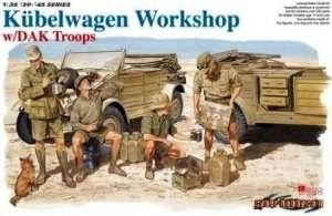 Kubelwagen Workshop w/DAK Troops Dragon 6338