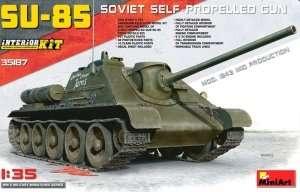 SU-85 Soviet self-propelled gun model MiniArt 35187 in 1-35