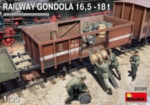 Railway Gondola 16,5 - 18t model MiniArt 35296 in 1-35