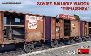 Soviet Railway Wagon Teplushka model MiniArt in 1-35
