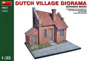 Dutch Village Diorama model MiniArt 36023 in 1-35