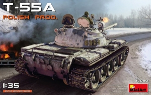 T-55A Polish Production model MiniArt 37090 in 1-35
