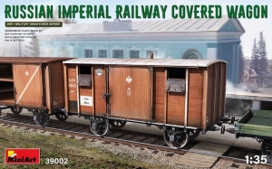 Russian Imperial Railway Covered Wagon model MiniArt 39002