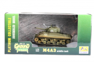 Die Cast M4A3 middle tank Easy Model 36255 in 1-72