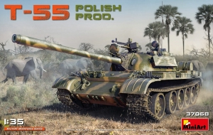 Model MiniArt 37068 tank T-55 Polish Production