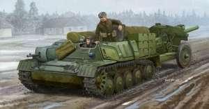 Model Soviet AT-P artillery tractor in 1:35 Trumpeter 09509