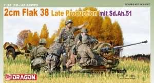 2cm Flak 38 Later Production mit Sd.Ah.51 in scale 1-35